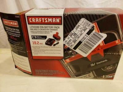 Craftsman lithium ion battery pack and multi chemistry charger 19.2V Model 25928
