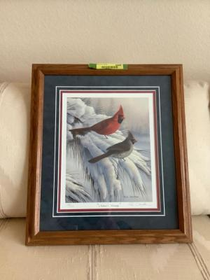 "Framed and signed ""Natures Beauty"" by Russ Duerksen  No. 195/500 Measures 15 x 18"