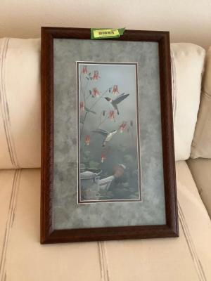 "Framed and signed print ""Flower Dancers"" by Russ Duerksen No. 254/500 Measures 13 1/2 x 21 1/2"