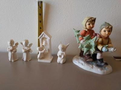 """Tree Trimming Time"" and 4 add'l Goebel holiday figurines"