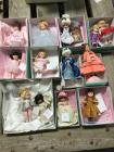 13 Madame Alexander dolls-Now I Lay Me Down to Sleep, Plie Wendy, The Clue Game, United States Las Vegas, Catch a Falling Star, Anne of Green Gables,