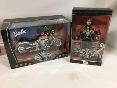 Harley Davidson Barbie and her Harley hog-NIB