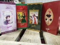 4 Hallmark Barbies-Holiday Sensation, Holiday Voyage, Holiday Traditions and Holiday Memories