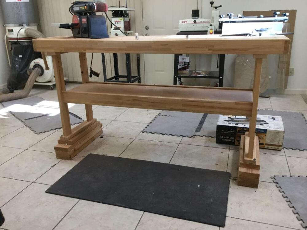 Rockler Woodworker Bench 20 W X 76 L X 33 H With Cogs And And Vise