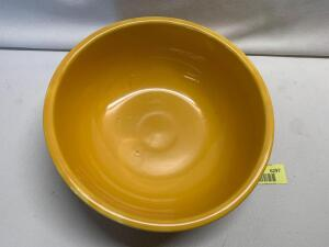We believe this may be a Fiesta Unlisted Salad Bowl-See description for details from the Fiesta Collectors Guide, 9th Edition