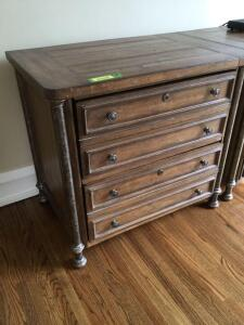 Stanley two drawer dresser measures 33 x 22 x 30. Matches the dresser in lot 3003