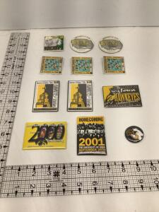 12 University of Iowa Homecoming Badges-1993, 1994 (2 identical), 1995 (3 identical), 1996 (2 identical), 1997, 2000, 2001 and 2002