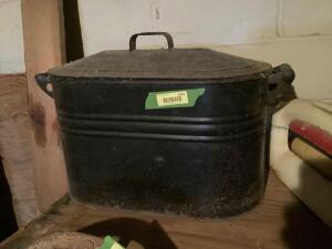 Vintage Boiler with lid May be copper-see photos