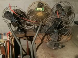 4 vintage Emerson electric fans