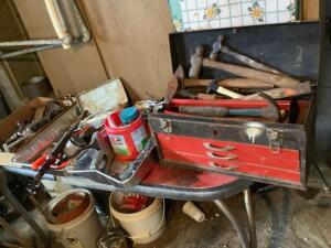 Tools-hammers, stapler, drop cord, wrenches, etc