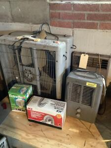 Fans and heaters, milk house heater, Extra-Heat and lint trap kit