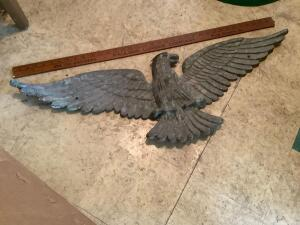 Brass? Eagle with 3 wing span He's heavy!!