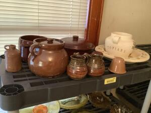 Bean pot, Topiary vase and basin, Western bean pot, brown insulator, and more