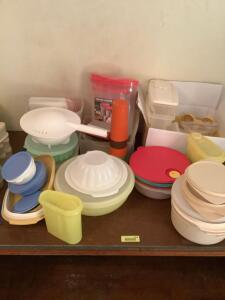 Tupperware on the right