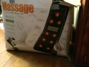 Massage mat with 9 massage motors, soothing heat and 4 massage zones It works!!