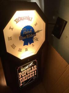Pabst Blue Ribbon clock