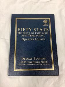 50 State District of Columbia and territorial quarter folder, deluxe edition 1999 through 2009