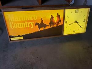 Marlboro Country lighted clock in working condition