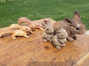 We all grew up with this bunny bank! And these squirrels are fun too!