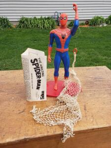 If you had this battery operated web throwing spider man, you were the coolest kid on the playground