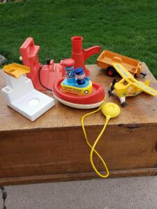 Fisher-Price Tuggy Tooter from 1967 and other FP items