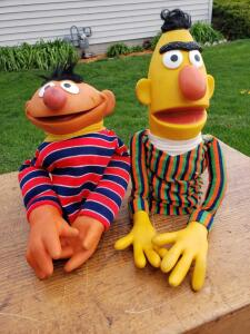 Everyone's loveable puppets, literally. Bert and Ernie puppets!