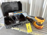DeWalt random orbit palm sander Model D26451 and additional stick and sand pads