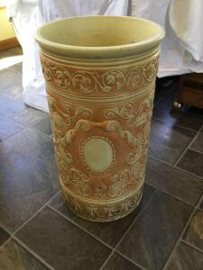 Umbrella stand possible Weller pottery