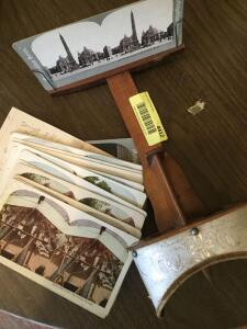 Stereoscope and viewing cards