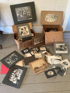 Two boxes LOADED with vintage photographs