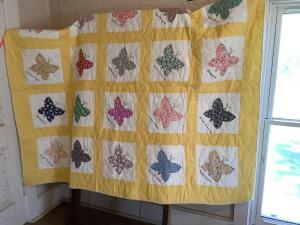 Class/Church Quilt with girls names Measures approximately 63 x 70