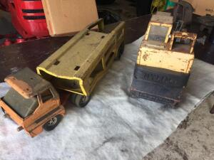 Two old metal toys