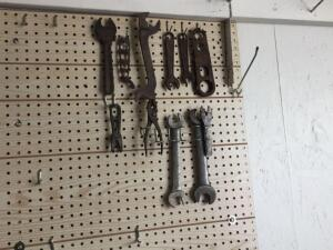 Various vintage wrenches