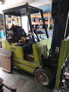 Clark Model GCS 20MB LP forklift Serial number G138MB-0738-6072FA