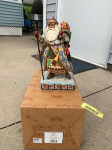 "Jim Shore Heartwood Creek Santa figurine ""Bringing Christmas Joy"""