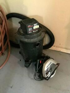 Sears craftsman 6 gallon 2hp wet/dry vac and Craftsman 2 1/8 hp circular saw 7 1/4""