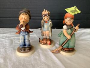 Three Hummel figurines-Little Sweeper, Doctor and Serenade