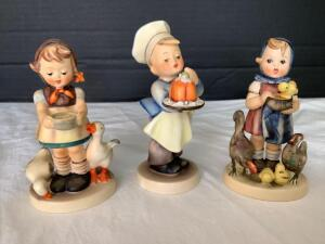 Three Hummel figurines-Baker, Be Patient and Feeding Time