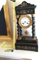 French pillar mantle clock