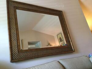 LARGE wall mirror measures 63 x 50