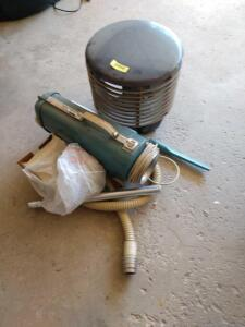 Hassock fan and Electrolux tank vac