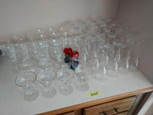 Approximately 48 pieces of various stemware-red and white wines etc
