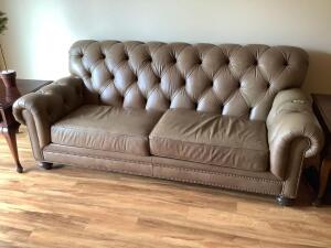 Two cushion Ethan Allen leather sofa Measures 80?