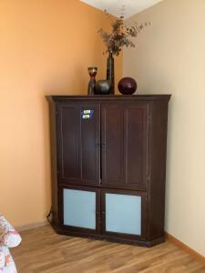 Corner Media cabinet and home decor Cabinet measures 31 x 52 x 60