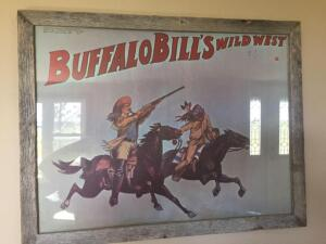 Framed authentic reproduction of a Buffalo Bill Show-24 1/2 x 18 1/2