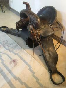 Western work saddle-Maker GEO.W. Bradley, Oregon