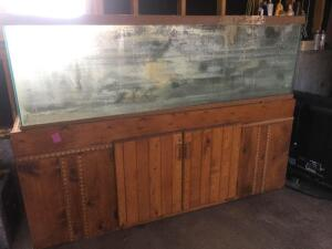 Fish tank with wood cabinet-125 gallon 72x20x53