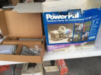 Power Pal tank less home air compressor 1/2 hp with attachments