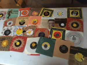 45 records-Marty Robbins, El Paso, Johnny Cash, Nat King Cole, Vince Everett, Ray Charles, Bobby Darren, Johnny Hathaway, Jimmy Clayton and more