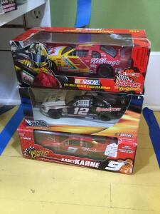 1:24 Sterling Marlin, John Force funny car, 1:24 Terry Labonte, 1:24 Kasey Kahne and 1:24 Ryan Newman die cast cars
